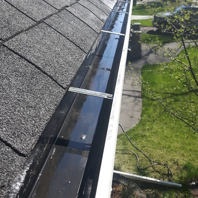 Roof Gutter Clean with no leaves or debris