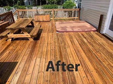 Deck Clean After Pressure Washing